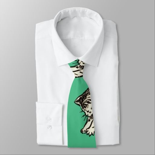 If you play with cats, expect to be scratched neck tie - $35.90 Made by Zazzle Apparel / Design: Fluxionist
