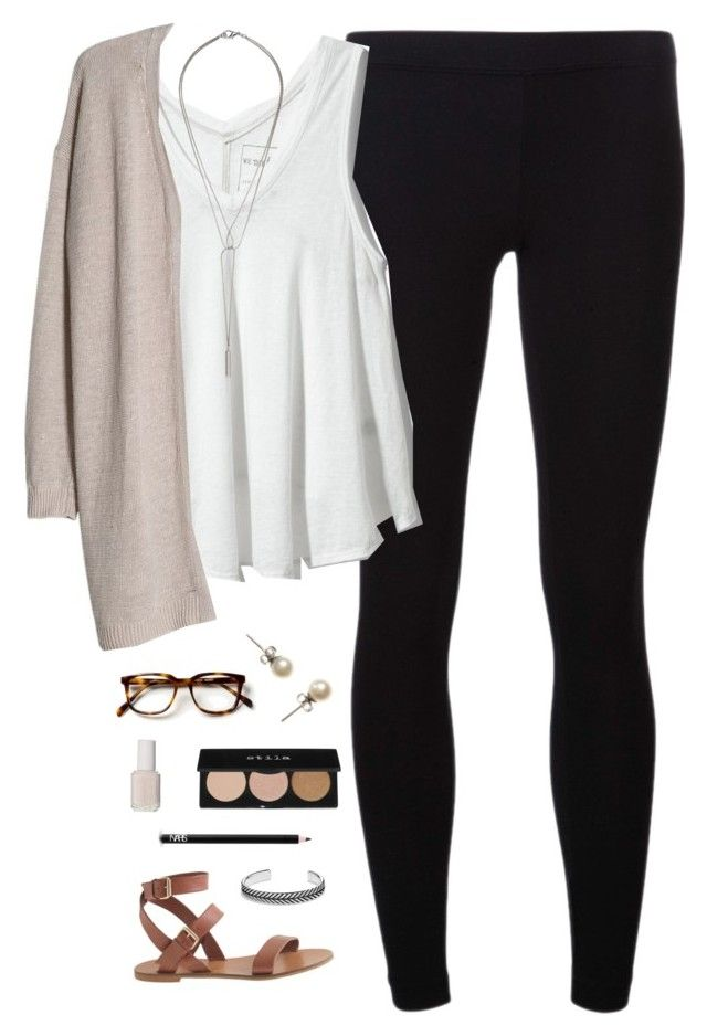 """""""happy camper"""" by classically-preppy ❤ liked on Polyvore featuring James Perse, Stila, Essie, NARS Cosmetics, Free People, MANGO, J.Crew, CO and David Yurman"""