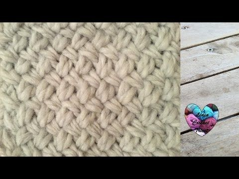 TUTO POINT DE GAUFRE AU TRICOT waffle knit stitch - YouTube