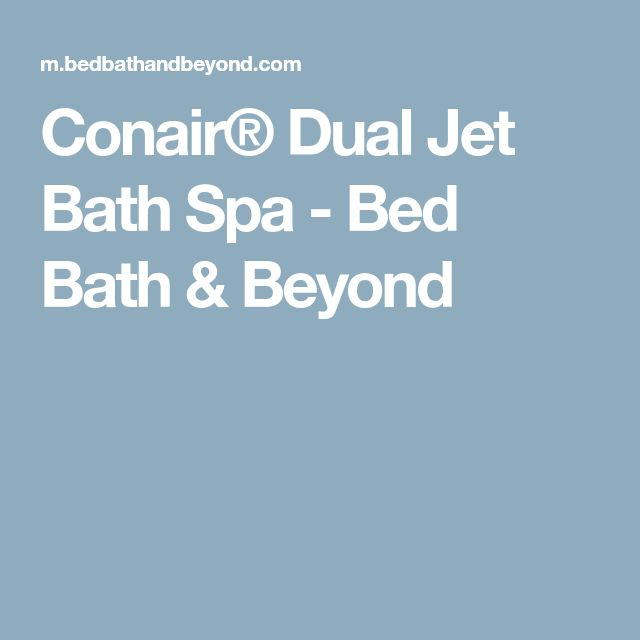Conair® Dual Jet Bath Spa | Spa, Jets and Jetted bathtub