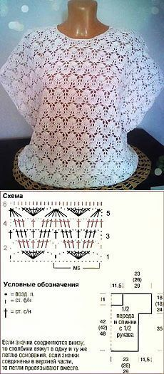 Teste padrão bonito para uma blusa de verão