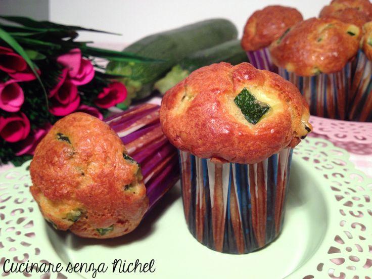 Muffin salati ricotta e zucchine nichel free