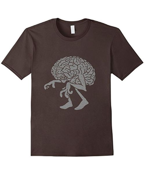 """Braindead""  Don't be a zombie. Feed your brain!!!  Available on Amazon.  #brain #zombie #tshirt"