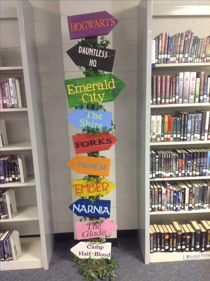 'Escape to everywhere' library sign idea (photo via Bing)
