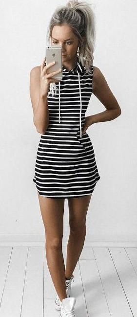 stripes. summer sporty chic style.