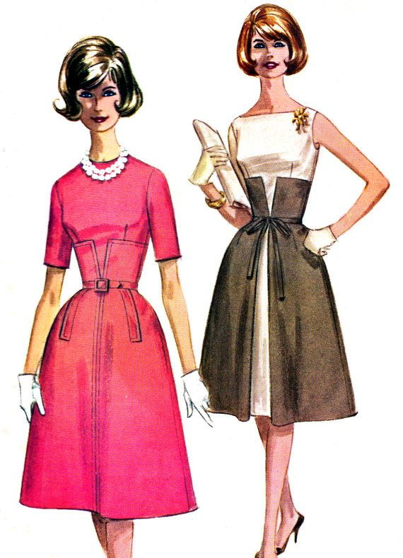 1960s Dress Pattern McCalls 6114 Day or Evening by paneenjerez, $40.00