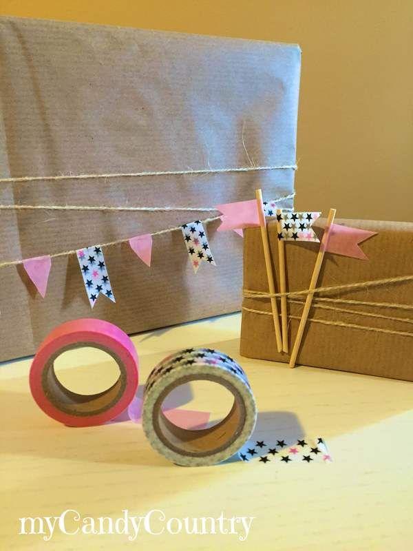 Creare un festone di bandierine per pacco  regalo