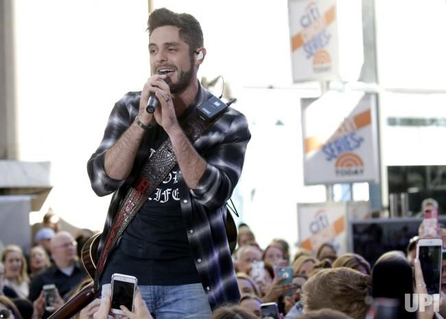 Thomas Rhett performs on the NBC Today Show at Rockefeller Center in New York City on June 2, 2017. Photo by John Angelillo/UPI