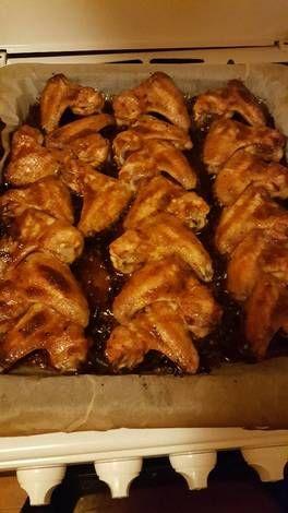 Sült csirkeszárny kólás BBQ szósszal