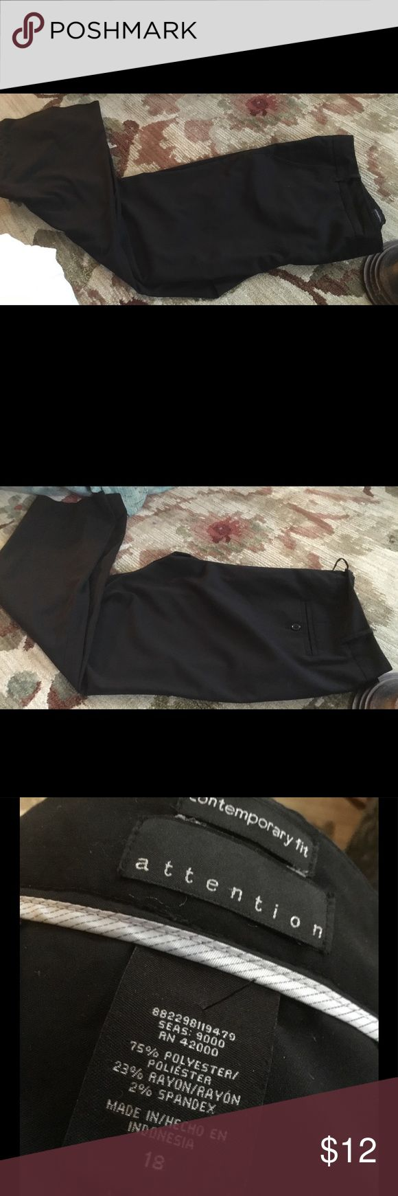 Nice casual slacks Worn once.  Polyester rayon and spandex.  Xcellent condition.  Contemporary fit. No stains no tears Attention Pants