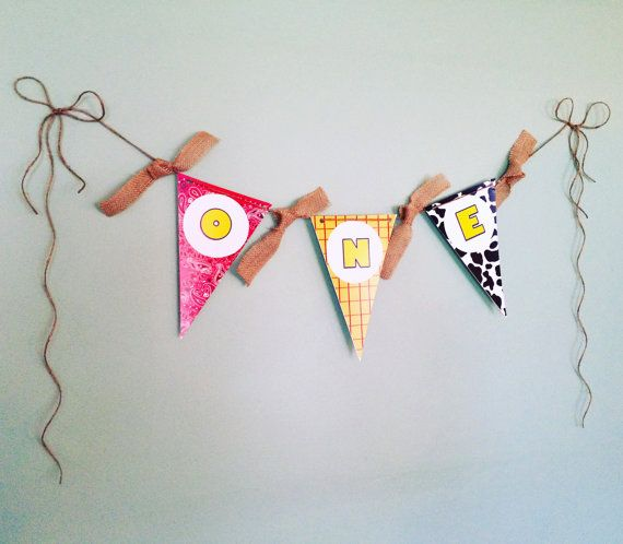 Toy Story First Birthday Banner | High Chair Banner | Woody Party | Jessie Party | Cowboy Birthday Party | Cowgirl Birthday Party