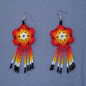#-D Jikuri Flower Earring set
