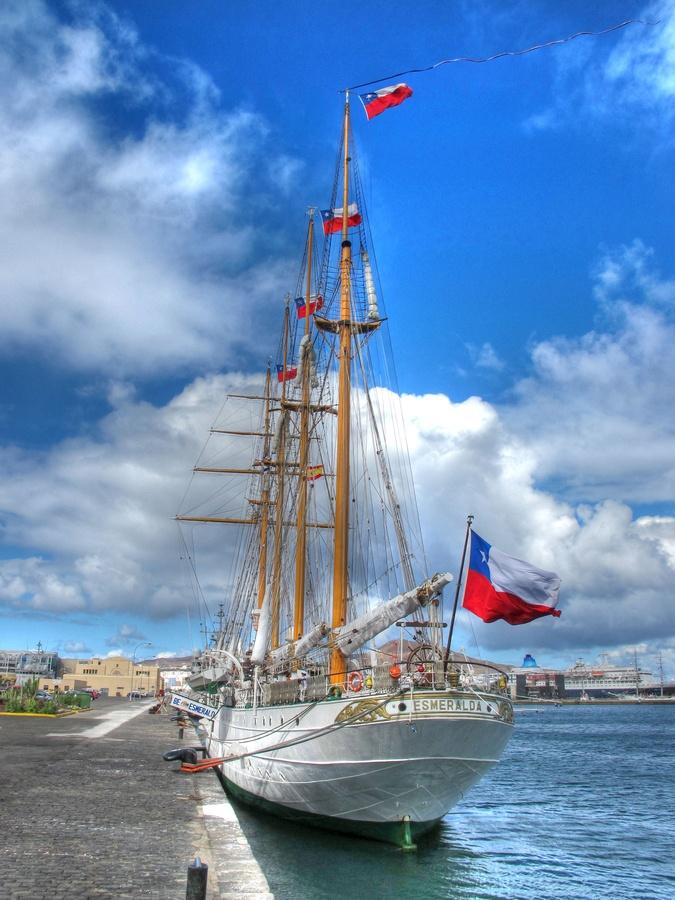 """""""La Dama Blanca"""" El buque escuela """"Esmeralda"""" de la Armada de Chile en Las Palmas de Gran Canaria"""
