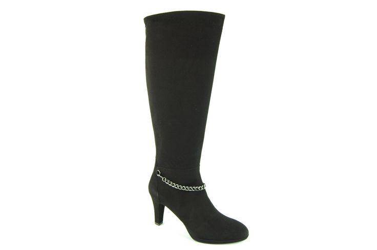 Lilian laars zwart - boot black