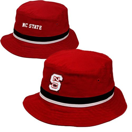 NC State Wolfpack Adidas Youth Red Bucket Hat
