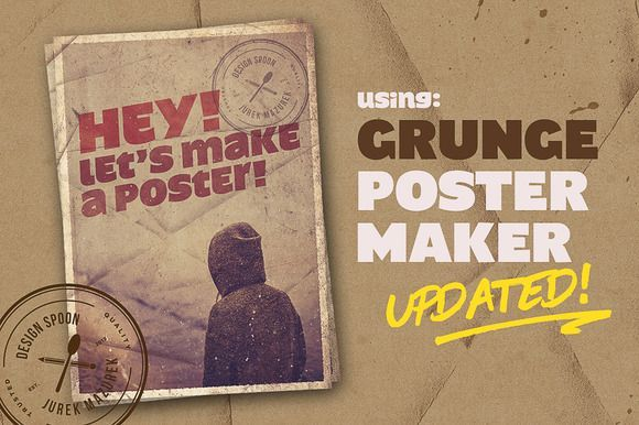 Diy Crafts Ideas : UPDATED!  Grunge Poster Maker by Design Spoon on Creative Market