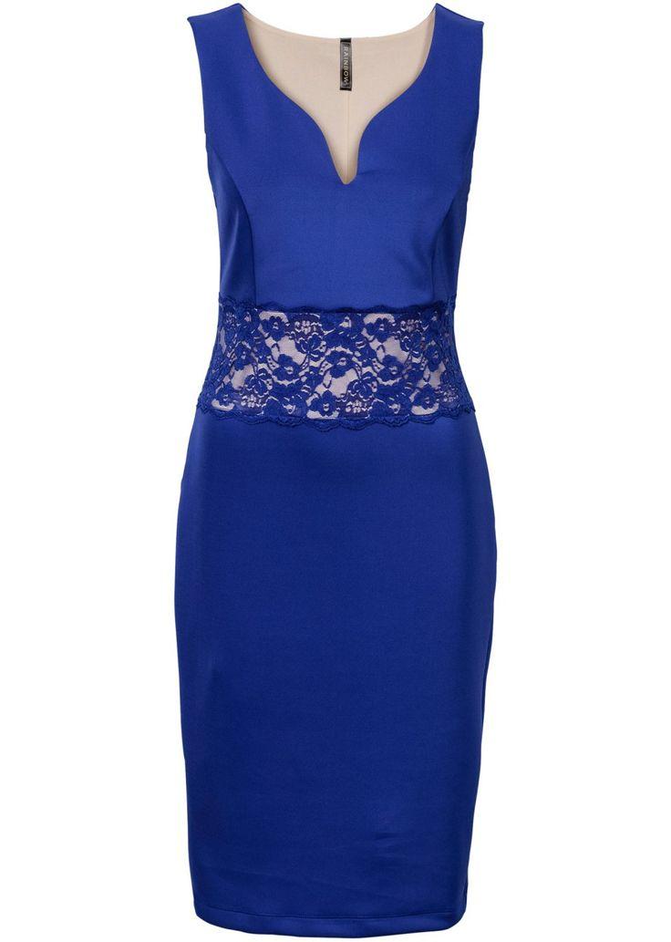 Bekijk nu:Musthave voor elke kleerkast! Nauwsluitende jurk met diepe V-hals en kanten inzetstuk in de taille.