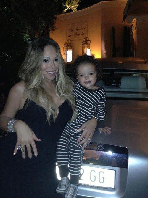 Mariah Carey & adorable Monroe