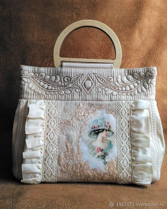 8f4fac76c8d0 Женские сумки ручной работы. Ярмарка Мастеров - ручная работа. Купить  Сумочка Прелесть. Handmade. Винтаж, тесьма
