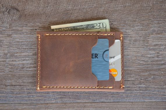 Brieftasche innen heraus Herren Leder Geldbörse von MirageLeather