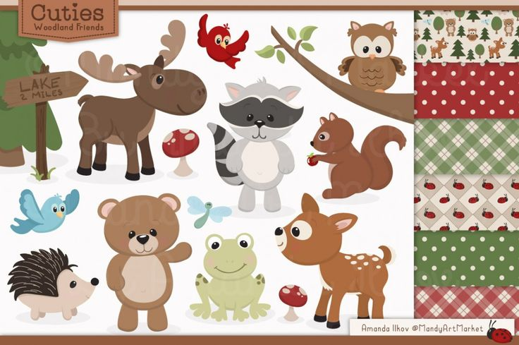 Free Woodland Clipart