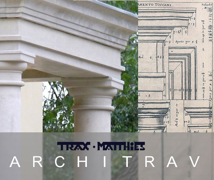 Architrav aus Betonwerkstein von TRAX-MATTHIES Sonderanfertigung #Architektur #Architecture