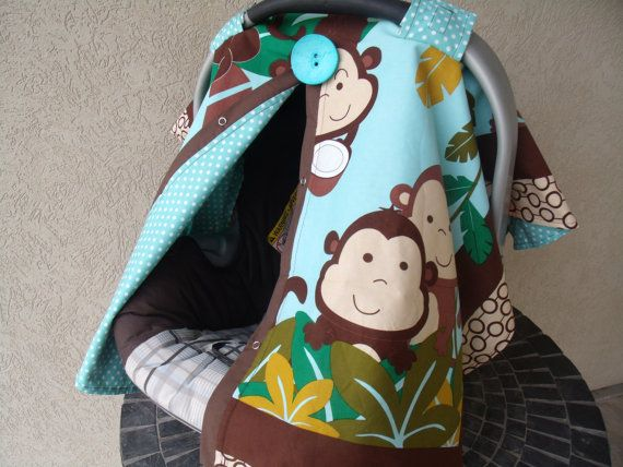 Carseat+Canopy+Monkey+Business+RTS+by+fashionfairytales+on+ & 34 best Carseat Canopy images on Pinterest | Baby car seats ...