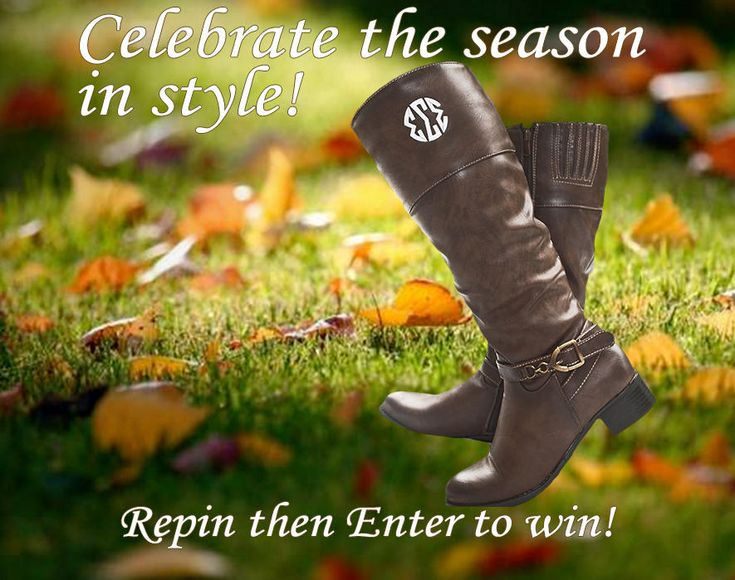 Enter to win your own custom monogrammed pair riding boots! Learn more at https://app.sideqik.com/p/5283afa8e90397943e000149#/promotion  Monogrammed riding boots are the perfect must have Sorority item! Whether your styling them with jeans, leggings, or dresses you will look classy this fall.