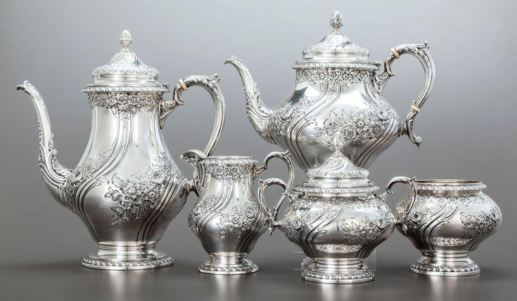 Serviciu de ceai din argint