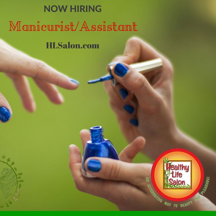 Manicurist/Assistant Work in a quaint, small eco-friendly full service holistic salon, day spa and Organic Wine Bar. Owner is hair color specialist using ammonia free color, henna and all natural styling products. No acetone, no gels, no acrylic. Must be Florida state board licensed Manicurist. Experience not necessary. All products will be provided. Job description: Manicures, pedicures, shampoo service, light cleaning, answering phone and other salon duties. Some computer skills necessary. Hourly wage + paid vacation offered to the right person. 3-4 days a week. May increase to 5 days a week. Clientele not necessary. Licensed Full Specialist are welcome to apply also. Interview by appointment only please. Email resume to Juli Edwards at healthylifesalon@gmail.com www.hlsalon.com Please do not stop by without appointment. Please be fragrance free for your interview. 203 SE 1st Ave Boca Raton, Florida 33432203 SE 1st Ave Boca Raton, FL 33432-4924