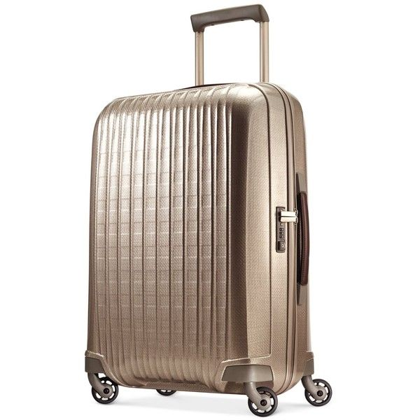 "Hartmann InnovAire 27"" Medium Journey Hardside Spinner Suitcase ($550) ❤ liked on Polyvore featuring bags and luggage"