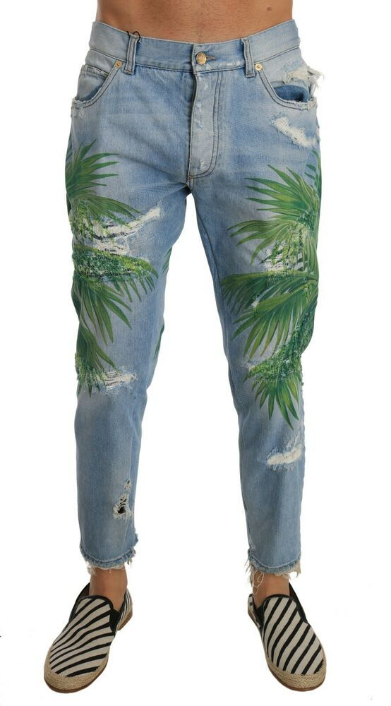 IT46 NEW $980 DOLCE /& GABBANA Pants White Black Striped Linen Casual s W32