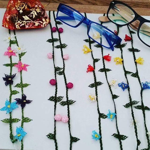 Gözlük ipi siparişlerim bitti ve teslime hazırlar. #iğne#oya#iğneoyası#gözlükipi#elişi#elemeği#kendinyap#handmade#yaratıcı#fikir#