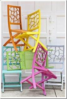 Colorful outdoor chairs...great for extra guests or outdoor party!