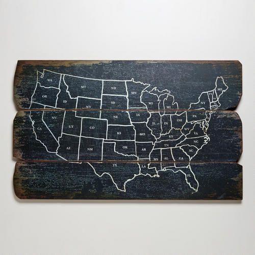Wood USA Wall Map at Cost Plus World Market >> #WorldMarket Artistic Inspiration