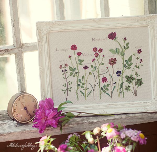 Summer Flowers sampler (Kazuko Aoki).  A lovely, private design.