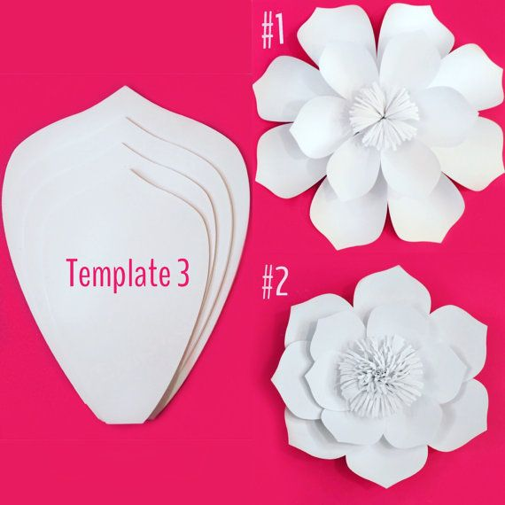 Paper Flower Template DIY Kit by PaperPoshEvents1 on Etsy More