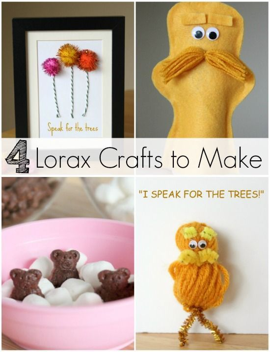 4 Crafty Projects to Celebrate The Lorax book by Dr. Seuss