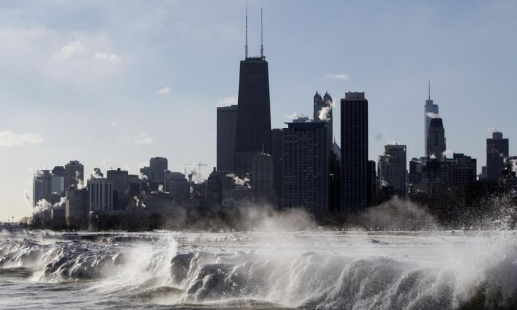 Cold waves of the Chicago lakefront