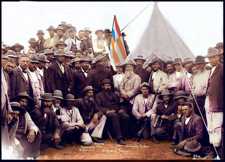 Group photo of Boer fighters of the Anglo Boer War, 1899-1902.