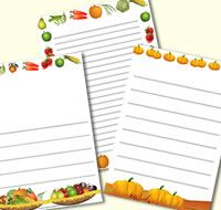Harvest Festival themed page borders / writing frames. Great to help support independent writing tasks when covering this topic,