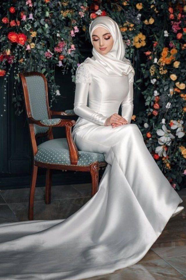 أجمل فساتين زفاف للمحجبات 2019 Muslim Wedding Dresses Nikah Dress Muslimah Wedding Dress