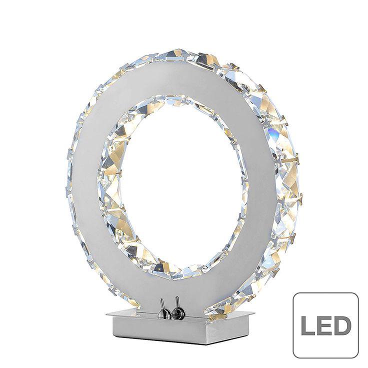 EEK A+, LED-Tischleuchte Jola - Chrom/ Kristall - Silber, Paul Neuhaus