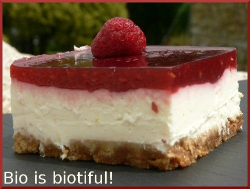 Cheesecake citron-framboises 1