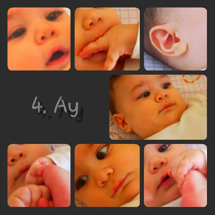 4.th month baby photo,baby parts collage,baby photo collage,4 aylık bebek resim