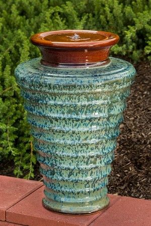 Twister Ceramic Fountain Beautiful Outdoor Fountains For Your Patio Or Garden! #fountains #outdoors #design #exteriors #design #exteriorhomescapes #exteriorhomescapes.com #exterior homescapes
