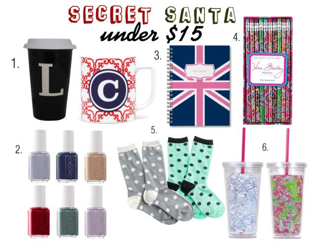 the perfect gifts for a secret santa gift exchange under 15 dollars blog posts pinterest secret santa secret santa gifts and santa