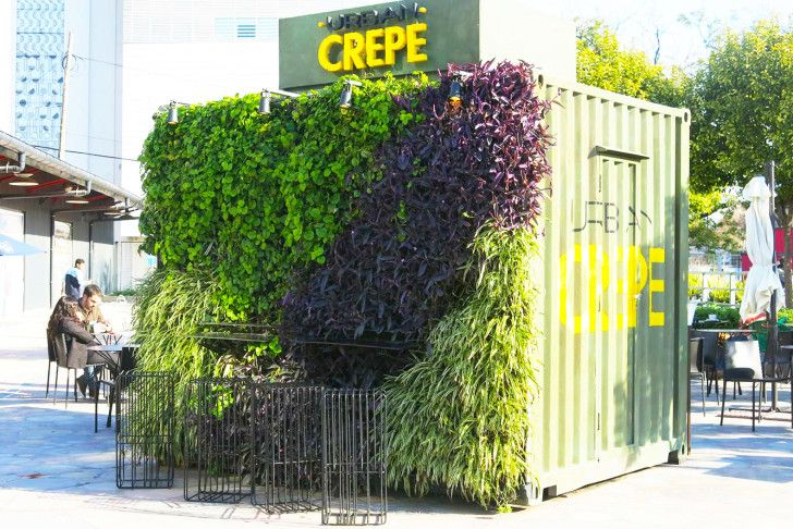 Urban Crepe is a blooming Buenos Aires food stall in a repurposed shipping container!