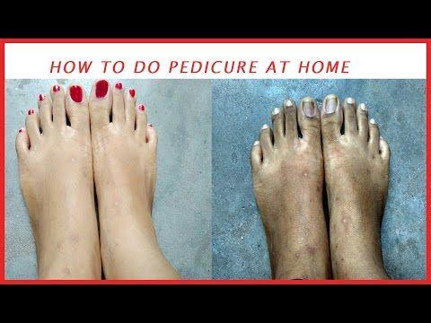 How to do pedicure at home .    brown tan feet    Anushka Rathore - http://www.nailtech6.com/how-to-do-pedicure-at-home-brown-tan-feet-anushka-rathore/