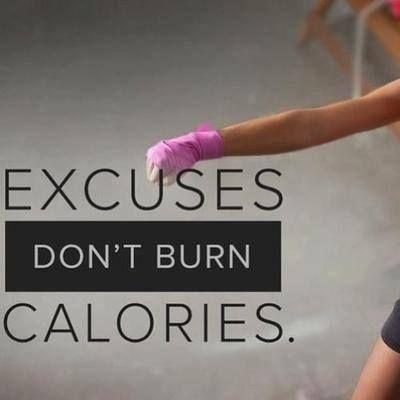 excuses DON`T BURN calories #poshbodies #skinnysoiree